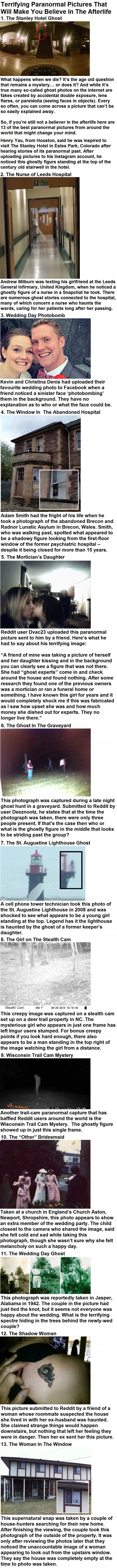 Terrifying paranormal pictures that'll make you believe in the afterlife
