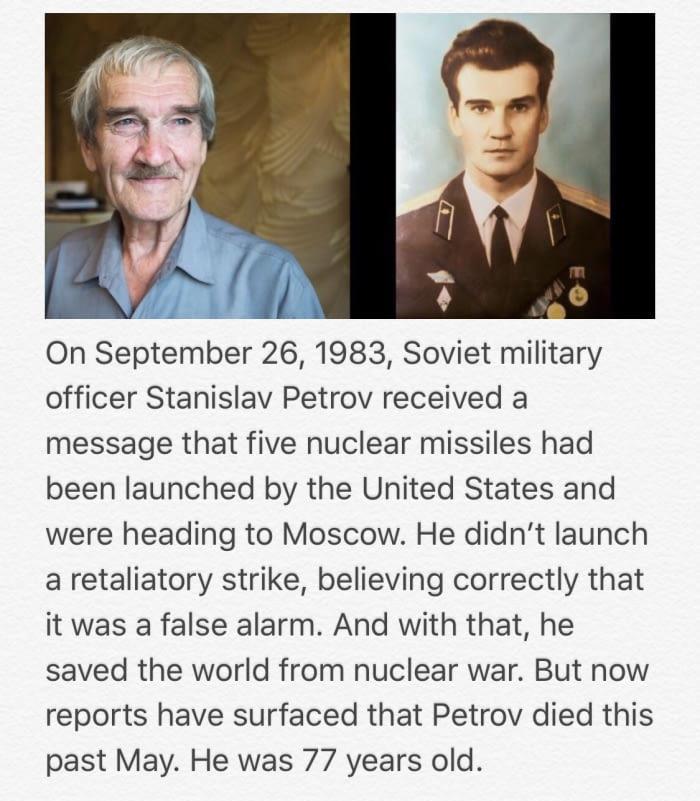 RIP Stanislav Petrov