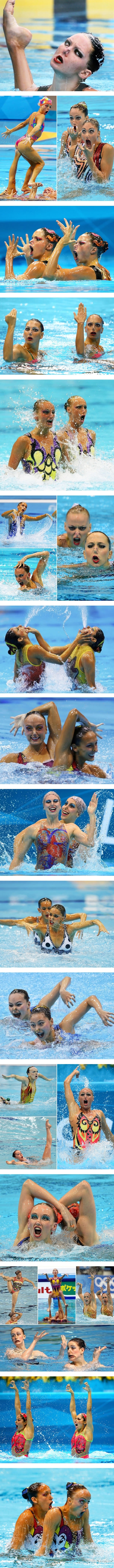 Synchronised swimming is so majestic