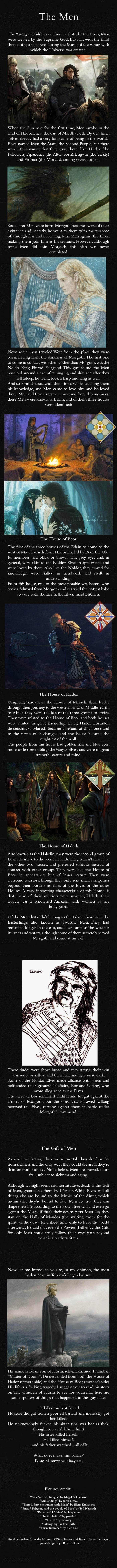 The Men - J.R.R. Tolkien's Mythology