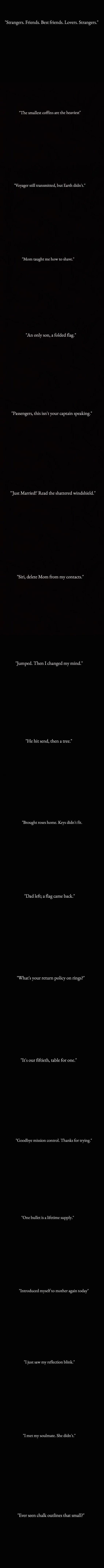 One liner sad stories