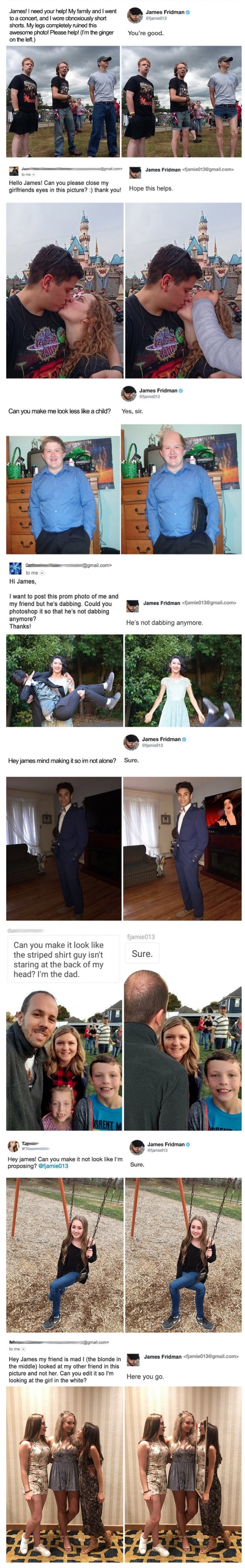 James Fridman, the great Photoshop trickster, is at it again!