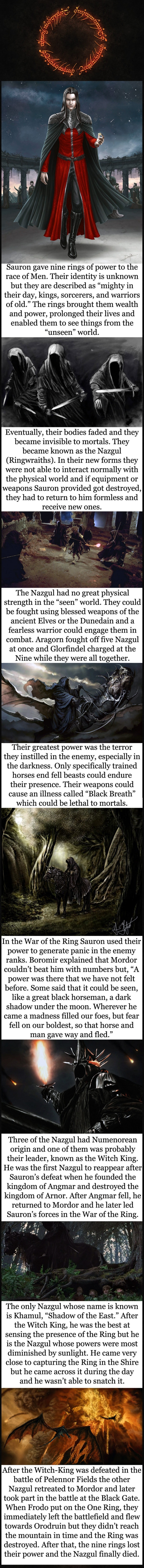 Tolkien lore - The Nazgul