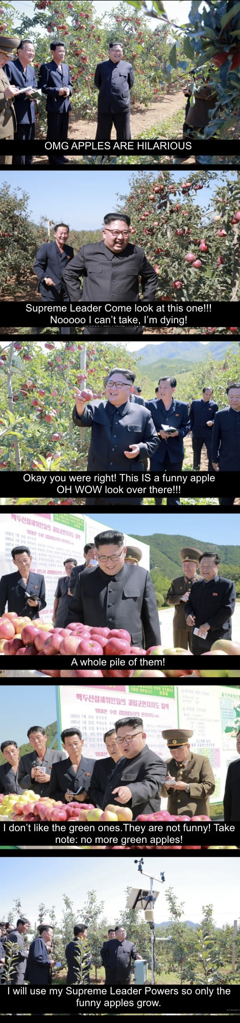 Red apples are hilarious