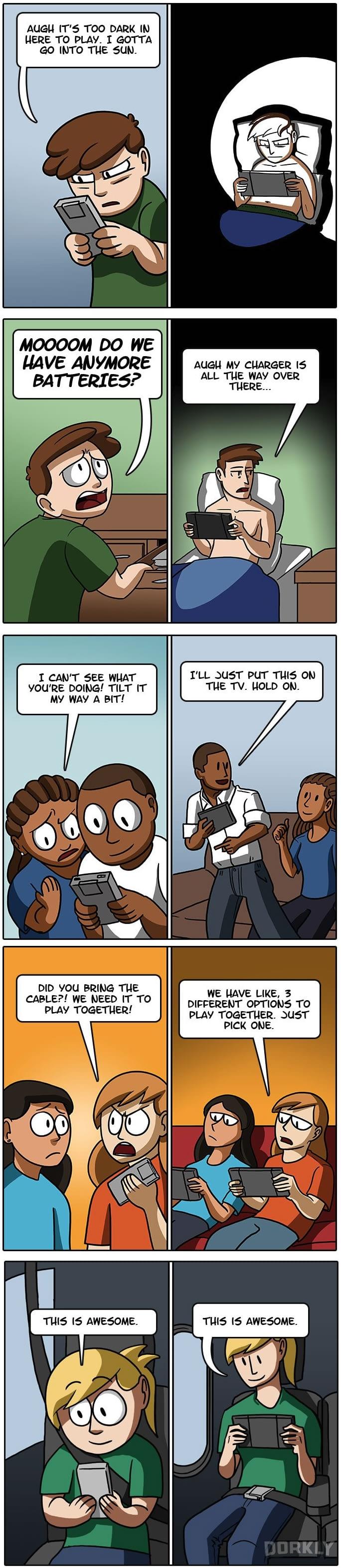 Nintendo handhelds then vs now