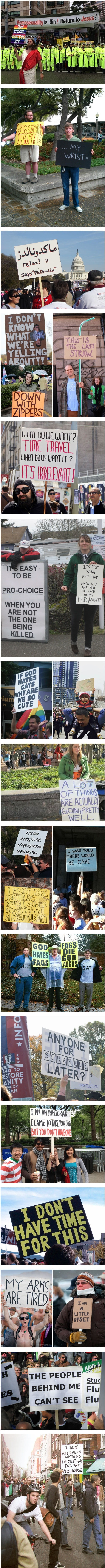 People who wonderfully trolled protesters