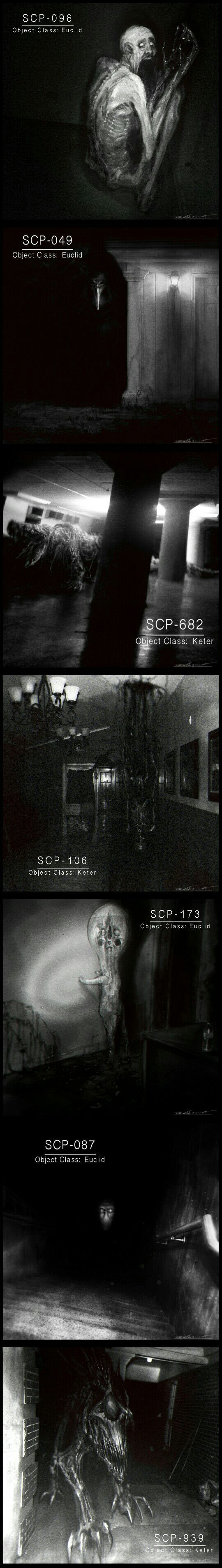 Creepy SCP monsters by Cinemamind
