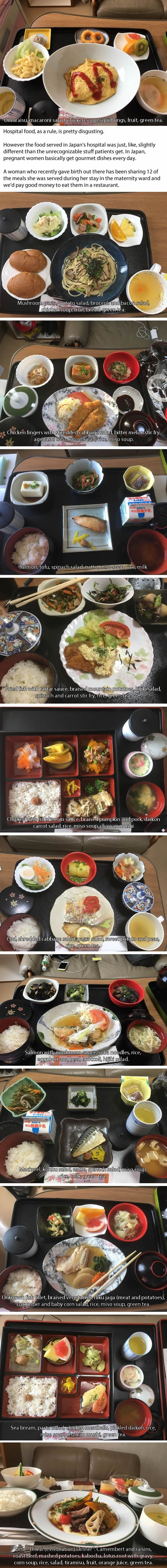 Woman who gave birth in Japan shares the food she had in the hospital