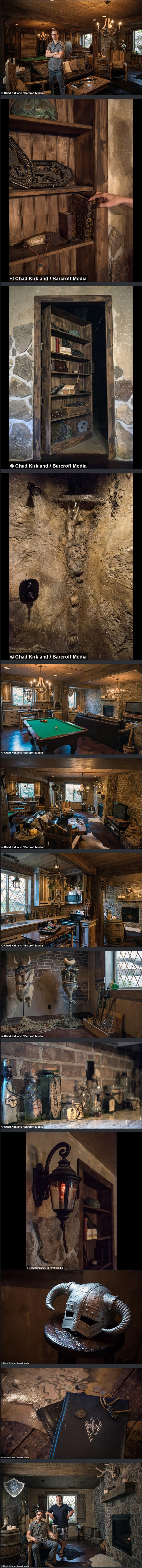 Elder Scrolls Basement remodel took 3 years and $50,000