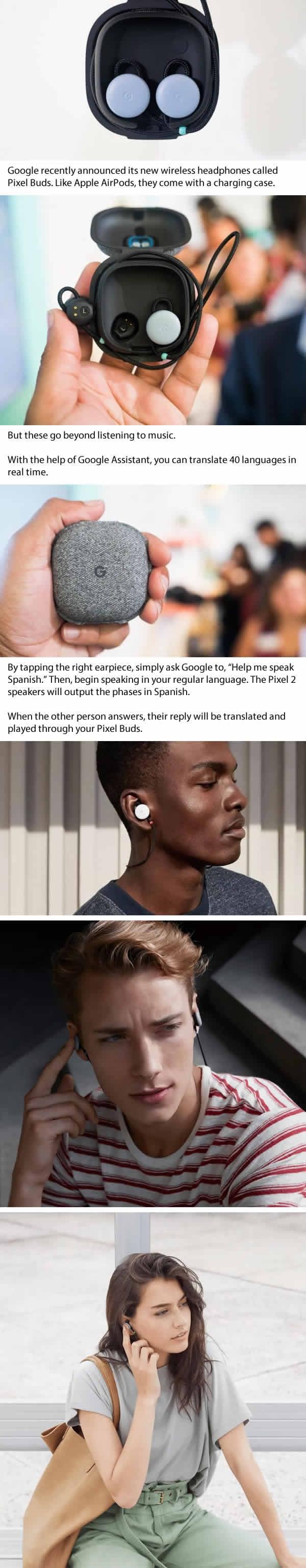 Google�s wireless �Pixel Buds� headphones