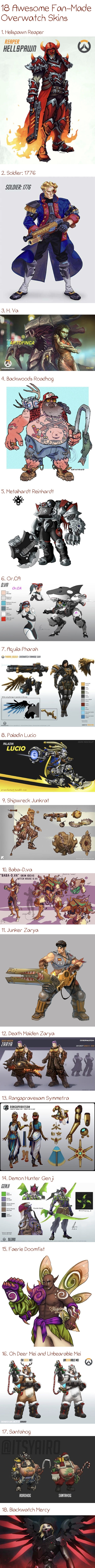 Awesome fan-made Overwatch skins