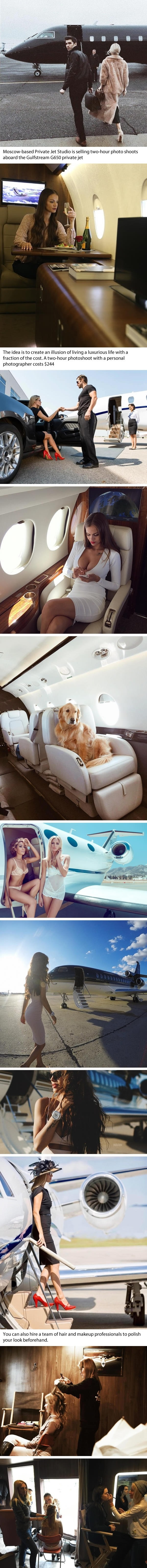 Russian company lets you fool your followers by renting out private jets for photoshoots