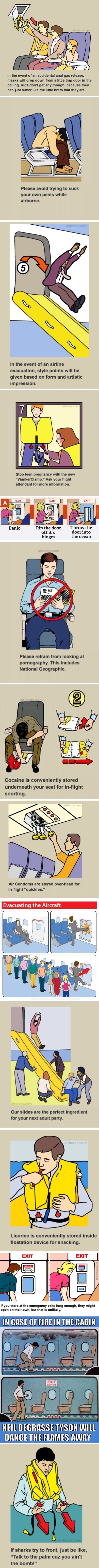 Hilarious airline safety cards that you shouldn't follow