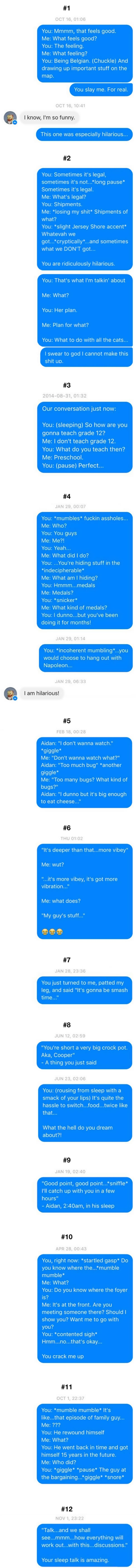 Wife posts all the things husband tells her in his sleep