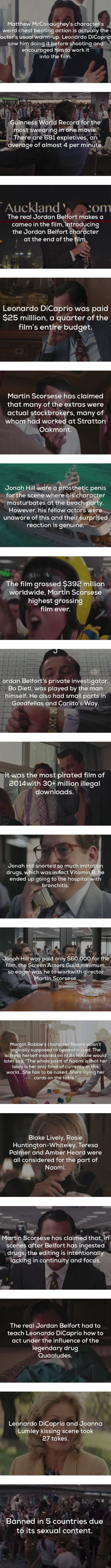 Interesting facts about The Wolf of Wall Street