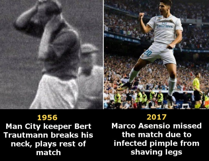Old footballers vs. modern superstars