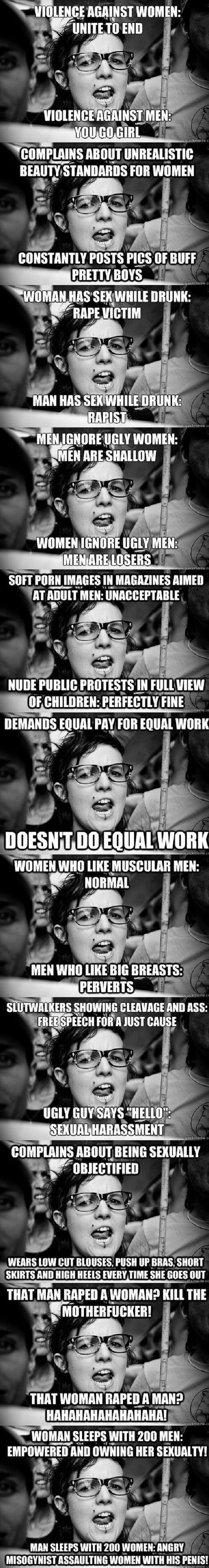 Hypocrite feminist