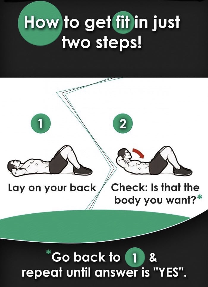 How to get fit in just two steps!
