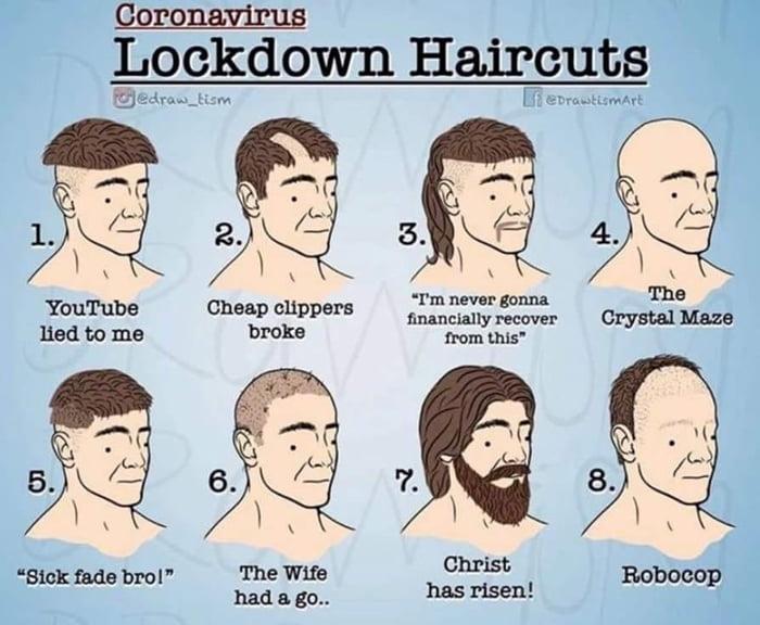 Coronavirus lockdown haircuts