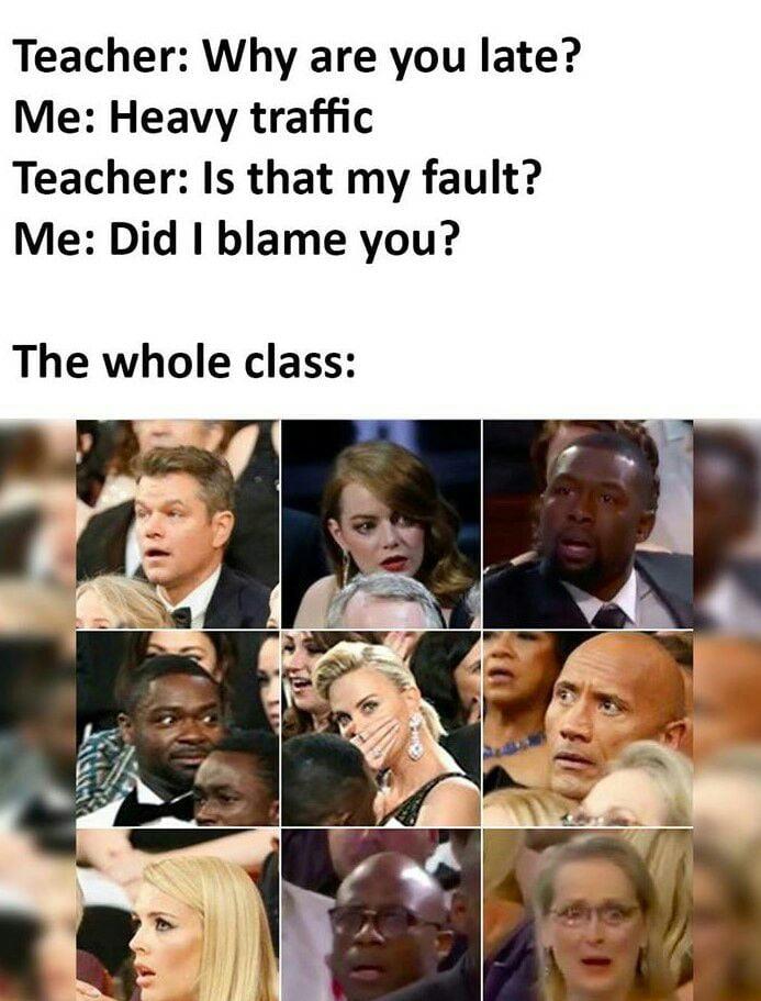 Did I blame you