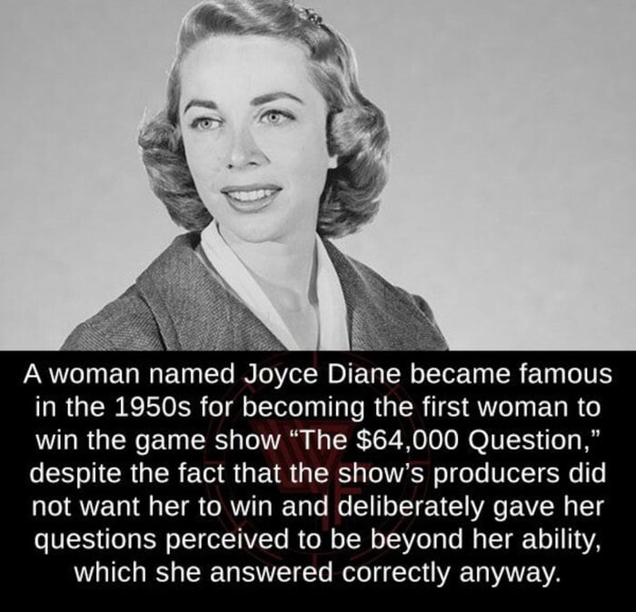 The first woman to win a game show