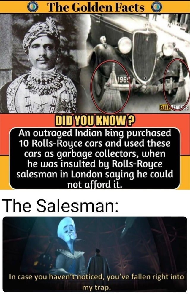 Indian king purchased a Rolls Royce