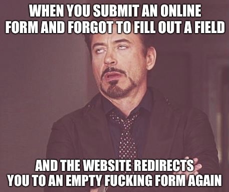 When you submit an online form