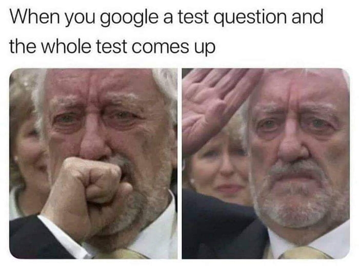 When you Google a test question