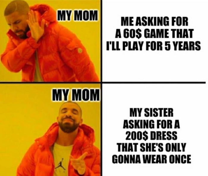 Asking Mom to buy me something