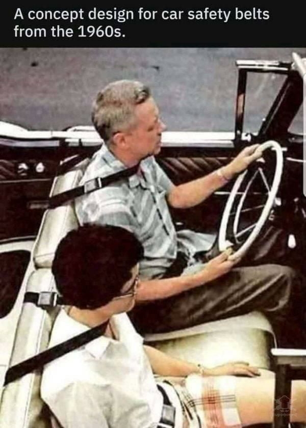 Design for safety belts from 1960