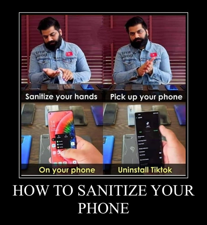 How to sanitise your phone