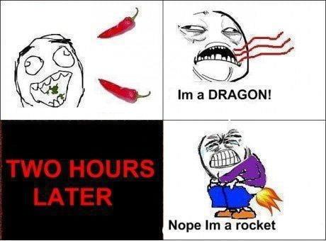 Peppers burn twice