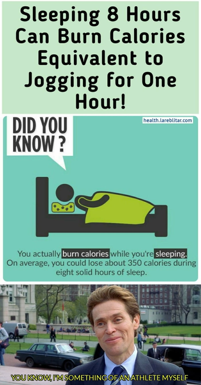 Sleeping burns calories