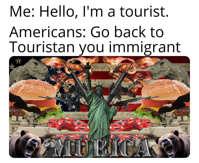 Tourists in America