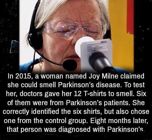 Woman can smell Parkinson's disease