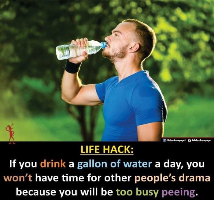 Drinking water is good for you