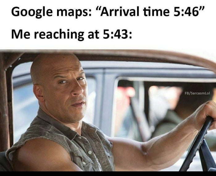 Google arrival time
