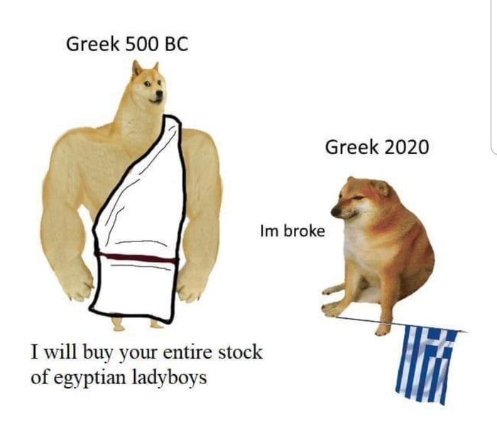 Greeks then and now