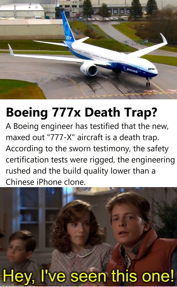 Boeing 777-X death trap