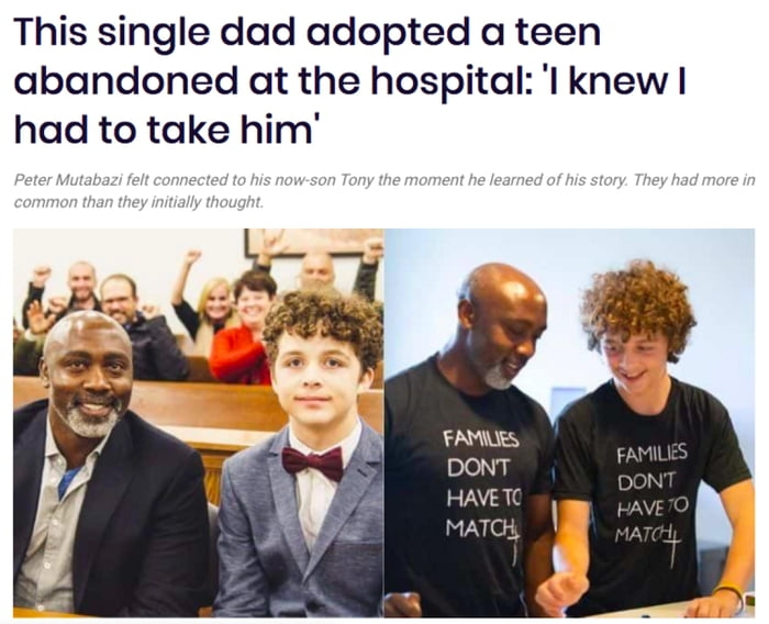 Single dad adopted a teen