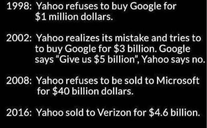 Don�t be Yahoo