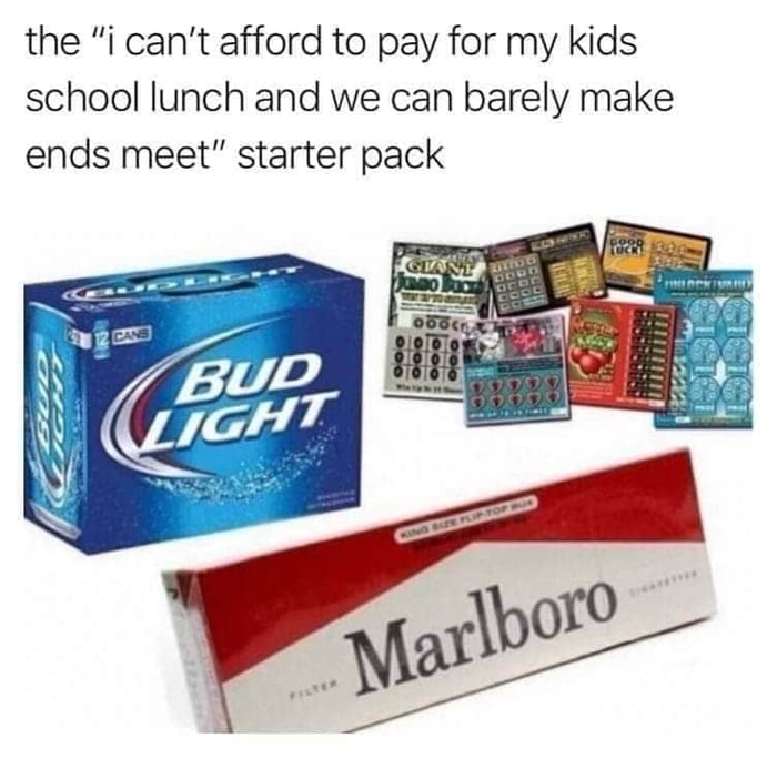 I can't afford it starter pack