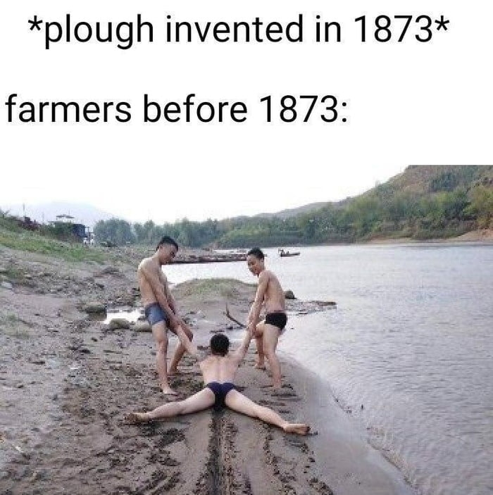 Farmers before ploughing