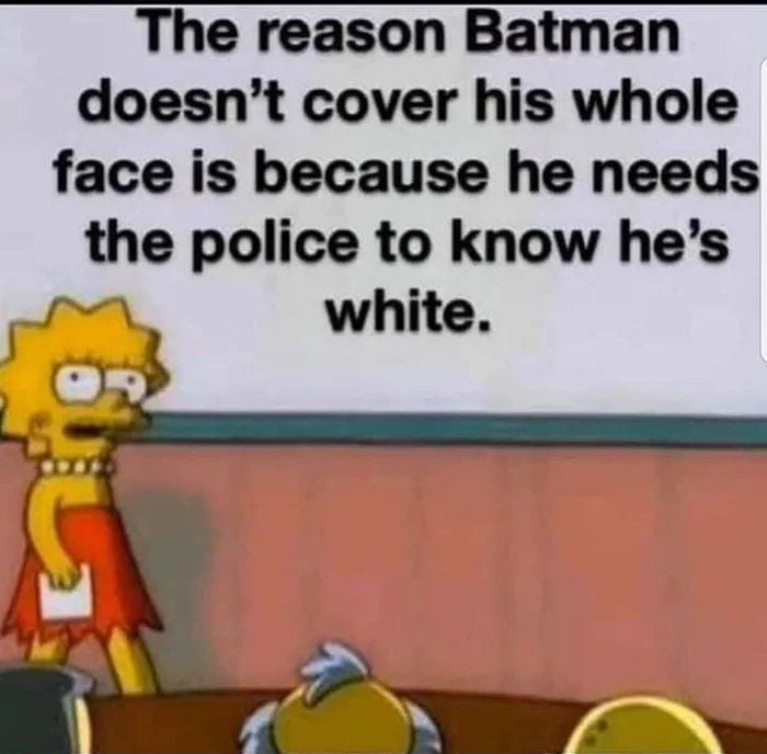 Why Batman doesn't cover his whole face