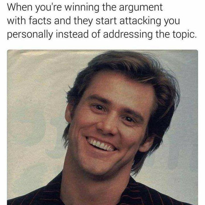 When your winning the argument