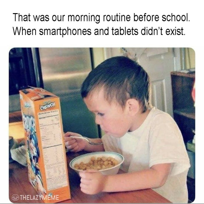 Our childhood morning routine