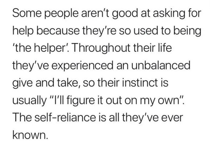 Self reliance is awesome