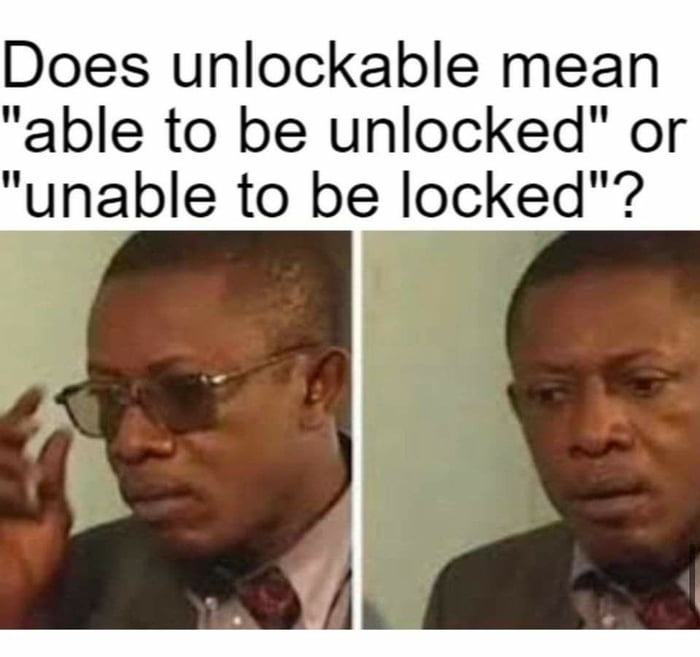 Meaning of unlockable