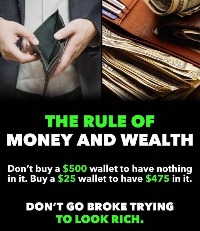 The rule of money and wealth