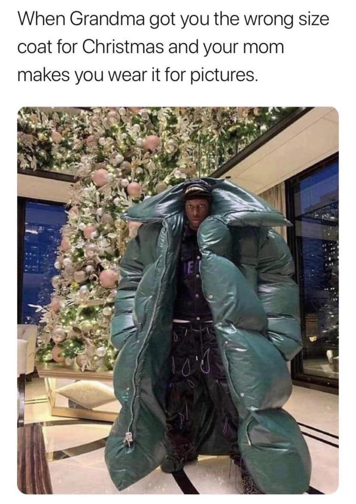 Wrong size coat
